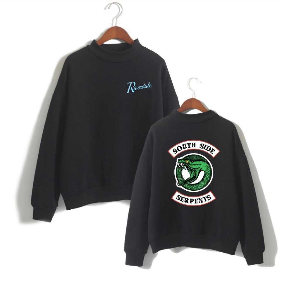 WEJNXIN Riverdale American TV Hoodies Women Fleece Sweatshirt Turtleneck Pullovers South Side Long Sleeve Sudaderas Mujer