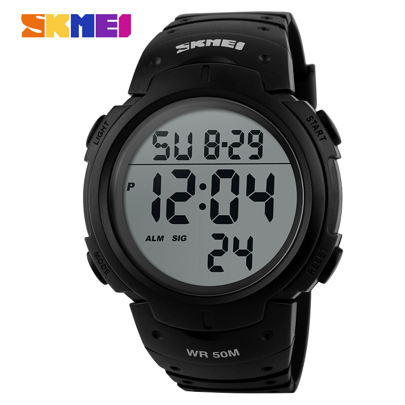 Skmei Brand Men Sports Watches Digital LED Military Watch Swim Alarm Outdoor Casual Wristwatches Hot Sale