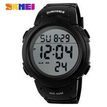 Skmei Marca Hombres Deportes Relojes Reloj Militar Digital LED Alarma de Natación Al Aire Libre Casual Moda Hombre Reloj de Pulsera Caliente
