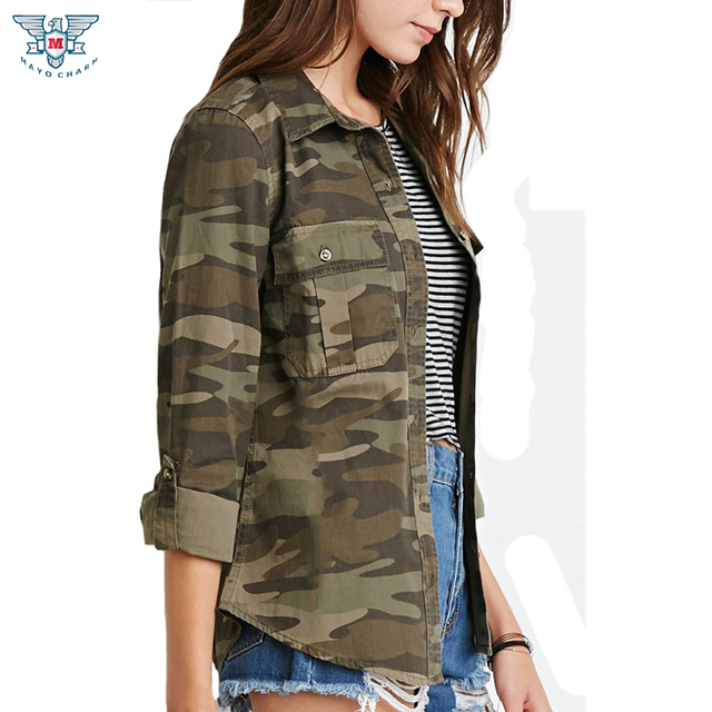 camouflage dames blouse