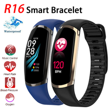 Smart Bracelet R16 Android IOS Heart Rate Band Sleep Monitor Blood Pressure Fitness Tracker Waterproof Color Screen Sport Band цена