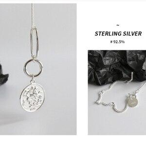 Image 5 - Цепочка женская из серебра 925 пробы с подвеской в виде монеты Элизабет