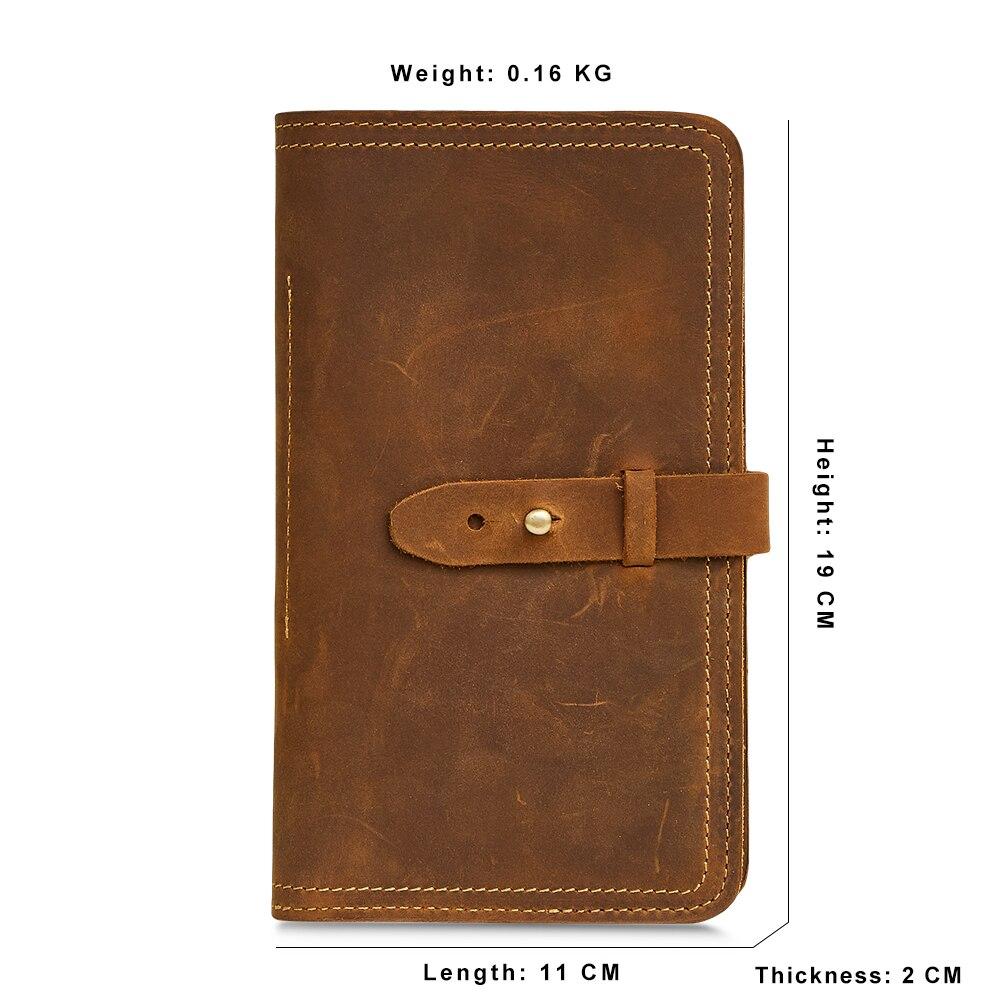 Genuine Leather Men Wallet Credit Card Holder Passport ... Designer Passport Holder