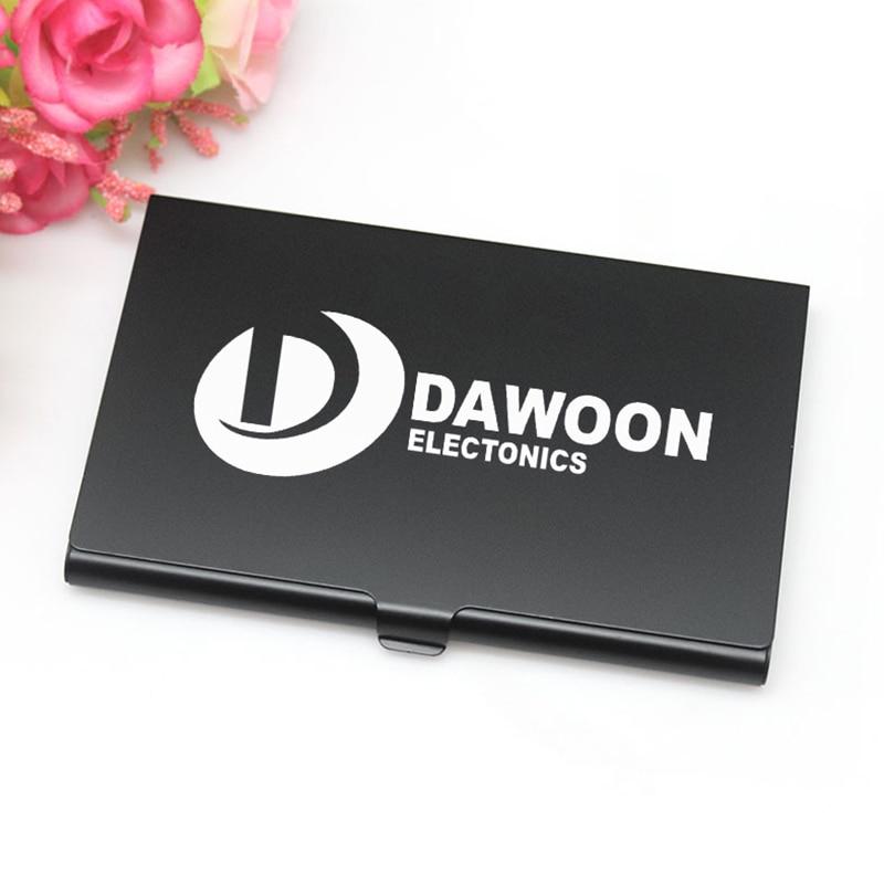 Black / Silver Business Card Holder Case Custom Logo Metal Aluminum ...