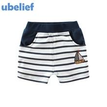 UBELIEF 2017 Summer Baby Boys Shorts Print Cartoon Sailing Pattern Boys Clothes Trousers Toddler Boys Weave Knit Shorts Kids Set