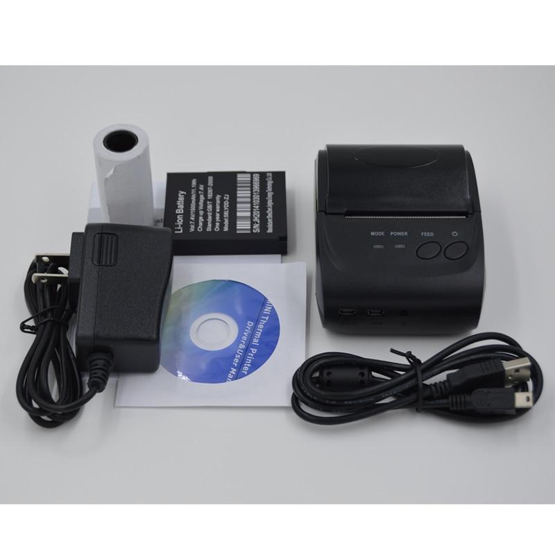 58 mm Portativ Mobil Printer Simsiz Bluetooth Printer Mini Termal - Ofis elektronikası - Fotoqrafiya 6