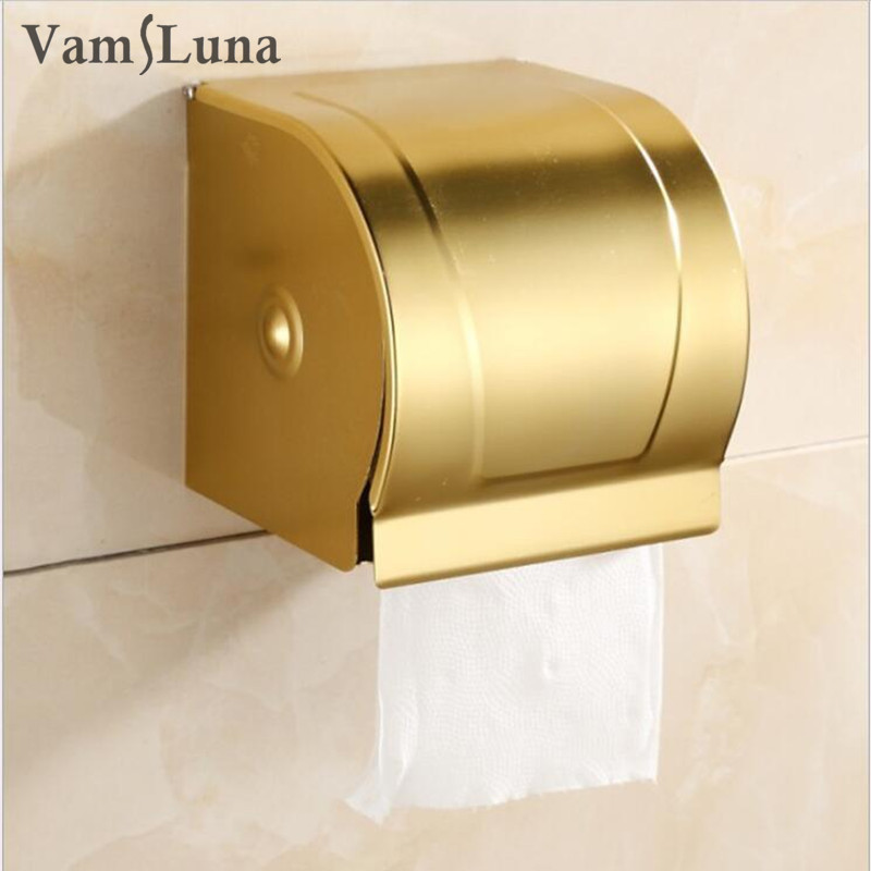 Wall Mounted Golden Toilet Paper Rack with Lib Modern Style Bathroom Accessories - Waterproof Tissue Roll Holder Box юбка ad lib ad lib ad014ewzag45