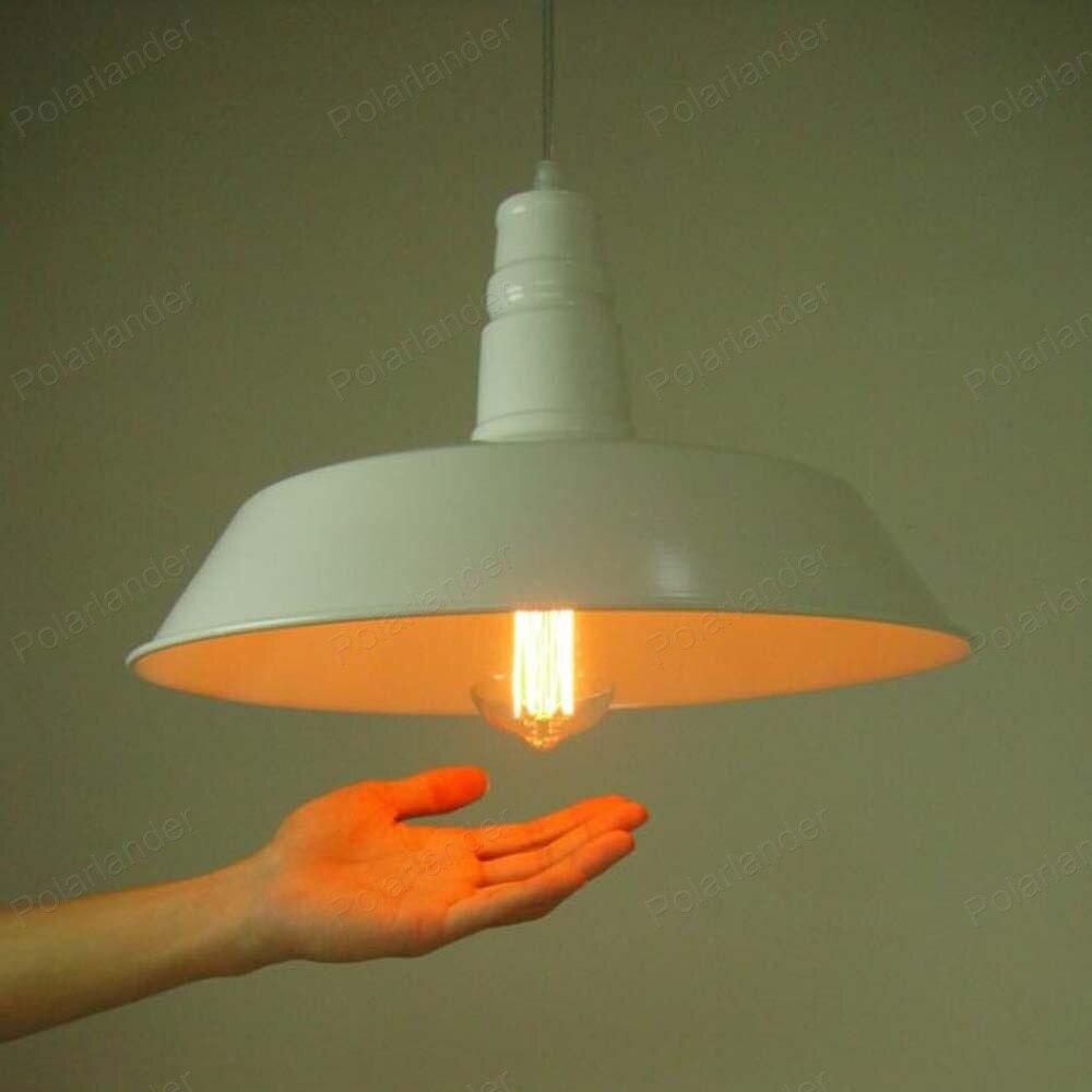 ФОТО Push-button retro white Iron shade pot lid chandelier corridor lamp living room lamp meal chandeliers