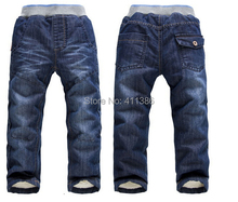 Складе толстый зимний розничная  теплые джинсы мальчики мода на брюки