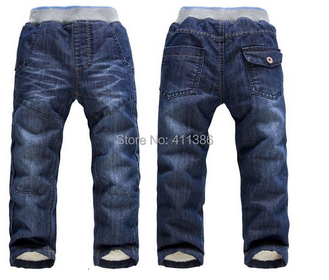 SKZ-309 Frete Grátis New Arrival Meninos Grossas de Inverno Calças Quentes Crianças Moda Calças Crianças Jeans Em Estoque de Varejo