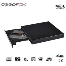 лучшая цена Deepfox USB2.0 Bluray Drive External CD/DVD RW Burner BD-ROM Blu-ray Player Optical Drive Writer For Apple Macbook Laptop