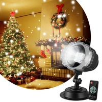 Holiday Projector Lights Christmas Halloween Landscape Motion Projector Lights with Remote Control Power Cable