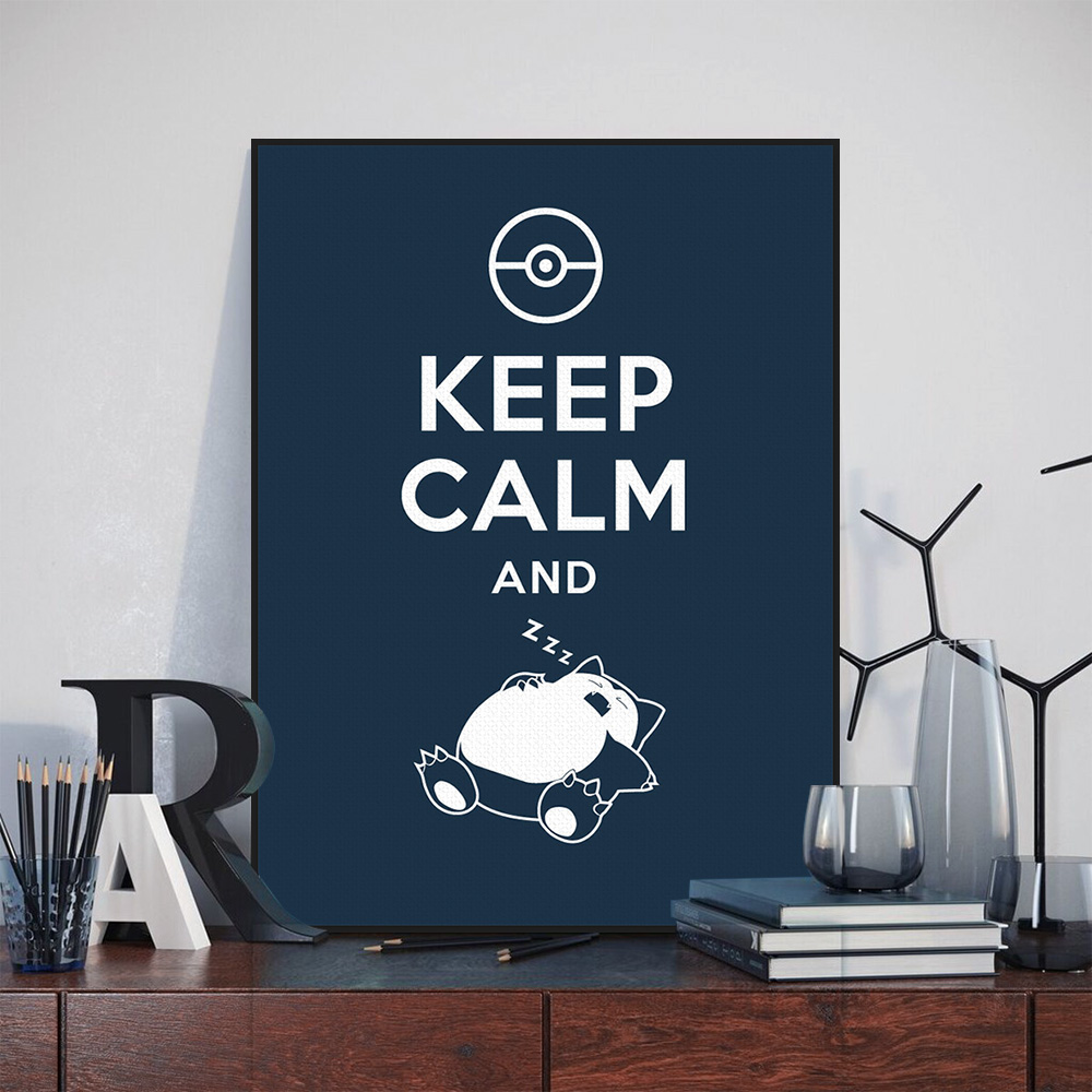 Decal Art Painting Vintage Decal x Poster Keep Calm And Smoke Kraft Paper