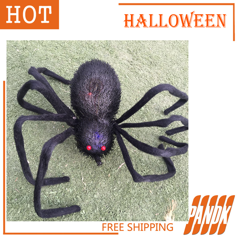 led halloween spider light poseable holiday halloween props haunted house halloween decorations ideas party yard free