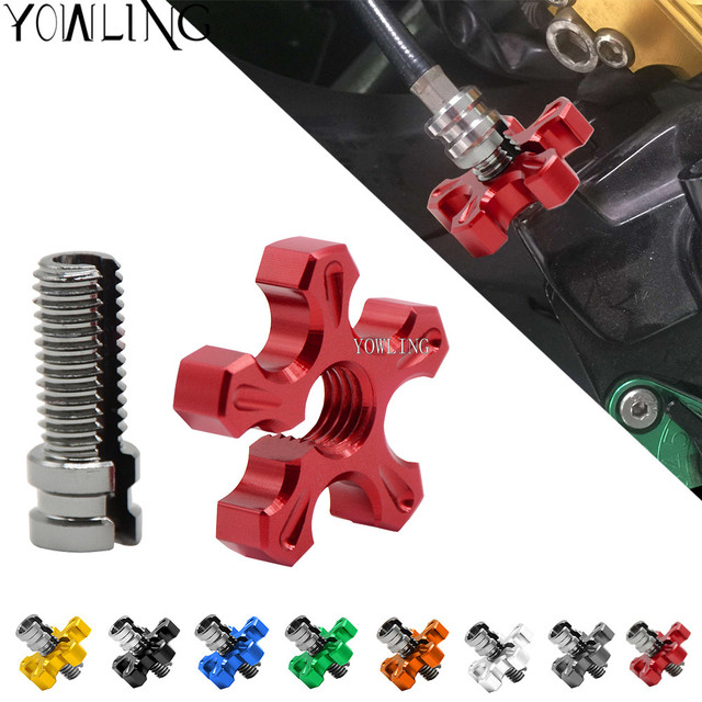 for Honda CBR 1000 RR CBR 900 RR Fireblade CBR 600 RR ABS Universal Motorcycle CNC Aluminum brakes Clutch Cable Wire Adjuster