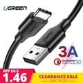 Ugreen 3A USB-C Cable para Huawei Mate 20 Pro USB tipo C de carga rápida Cable de datos para Xiaomi mi 8 Oneplus 6 5 T USB-C cable del cargador