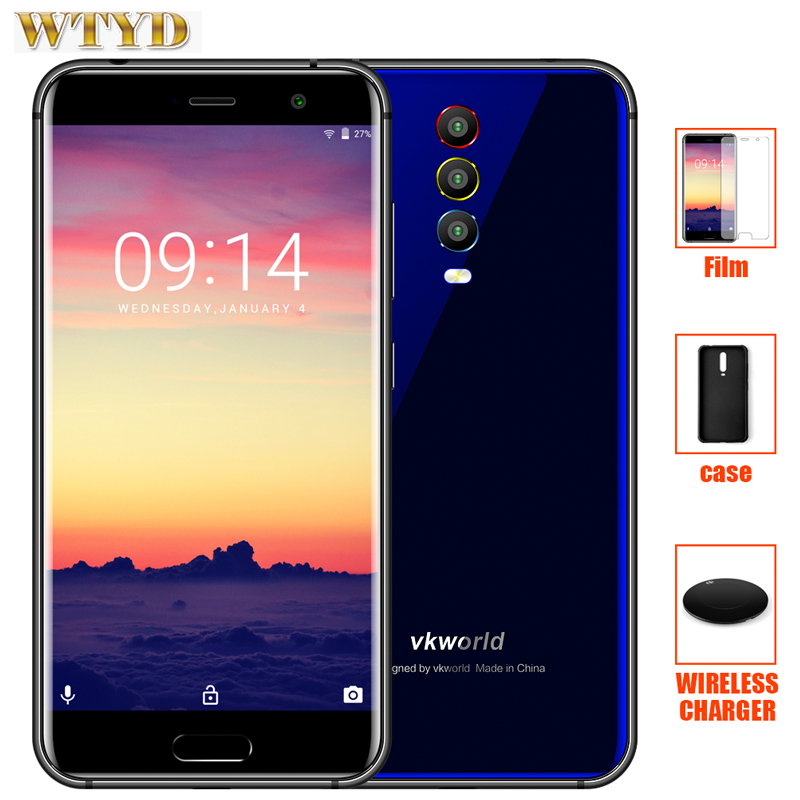 vkworld K1 Rear three Cameras 4G Smartphone Android 8 1 4GB RAM 64GB ROM Octa Core