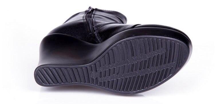 Image 5 - GKTINOO/2019 ботинки из натуральной кожи; сезон осень зима; женские ботильоны; женские ботинки на танкетке; женские ботинки; обувь на платформе-in Полусапожки from Обувь