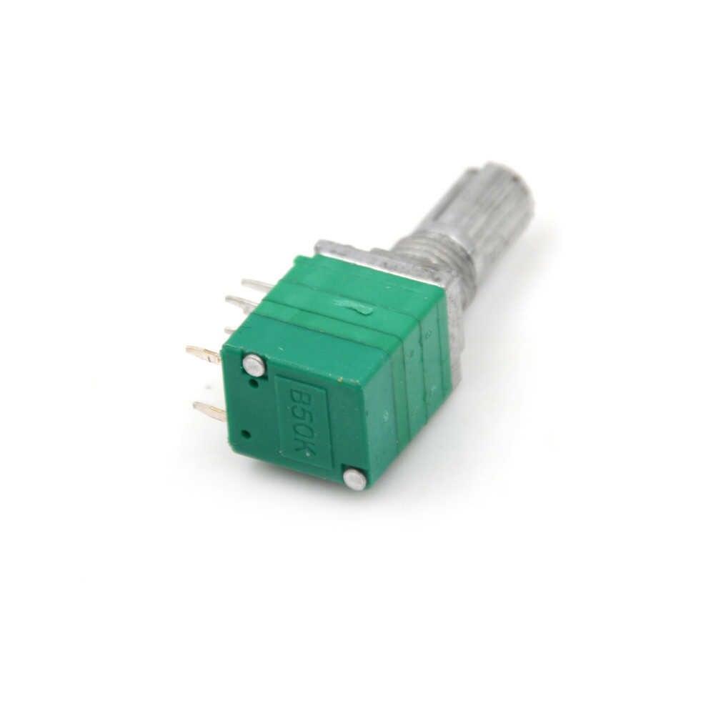 أحدث 1 قطعة 8pin RV097NS الجهد المزدوج B50K مع التبديل الصوت/مكبر كهربائي/ختم الجهد