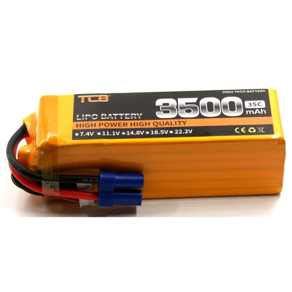 TCB 6s RC Lipo Battery 22.2V 3500mAh 35C 6s FOR RC Airplane Car Boat Drone Remote Control Model Battery LiPo AKKU Free Shipping