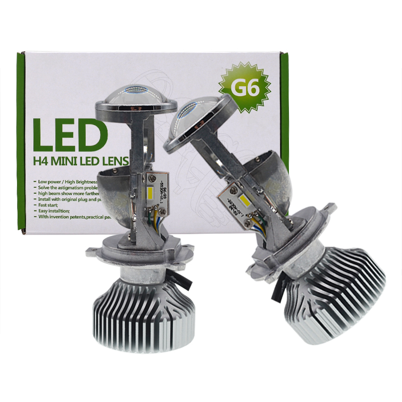SKYJOYCE 70W/Pair H4 LED Mini Projector Lens Bulb 1.5 inch 12V/24V 35W 5500K H4 Hi/Lo Beam Auto Headlamp Retrofit RHD LHD LED H4