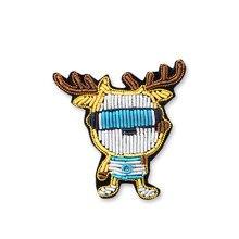 c606781db Bordado de seda da índia pino no remendo cooldeer broche emblema patches  para vestuário parches termoadhesivos parágrafo ropa pa.