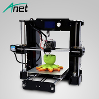 ANTE Newest A6 DIY 3D printer Reprap Prusa i3 precision Machine+Hotbed+1 Roll Kit DIY Easy Assemble Filament+SD Card+LCD Screen
