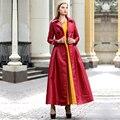 Мусульманская Одежда Исламская Длинное Пальто Осень Весна Ветровка Женщины Двойной Брестед Макси Манто Femme Пиджаки