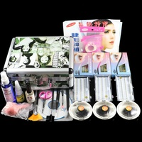 Fashion False Double Layer Beauty Grafting Eyelash Extension Kit Full Set With Silver Case For Beauty