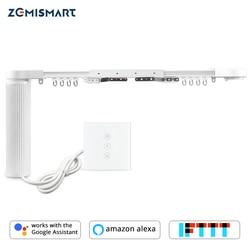 Zemismart Elektrische Gordijn Motor met Rail Smart Home Tuya Smart Leven APP Alexa Echo Google Home Control