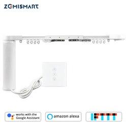 Zemismart cortina elétrica do motor com trilho casa inteligente tuya vida inteligente app alexa eco google controle de casa