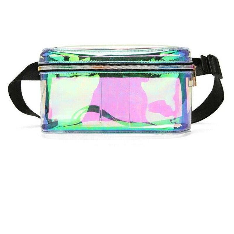 Fashion Transparent PVC Clear Waist Pack Hip-Hop Fanny Pack Belt Bum Bag For Women