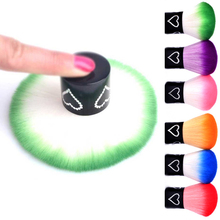 Pandahall 1pcs New Colorful Soft Nail Powder Dust Remover Brush Cleaner Makeup Cosmetic Manicure Tools