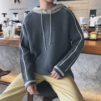 2017 Winter Man Pattern Pure Color Hat Fashion Sweater Knitting Unlined Upper Garment Loose Casual Hot