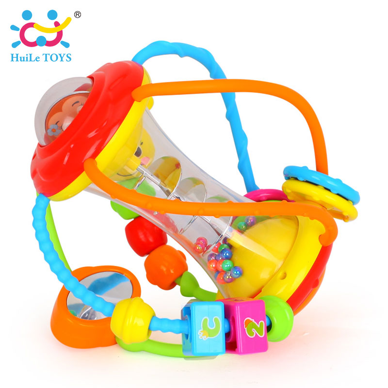 HUILE-TOYS-Baby-Toys-Ball-929-Baby-Rattles-Educational-Toys-for-Babies-Grasping-Ball-Puzzle-Multifunction-Bell-Ball-0-18-Months-3