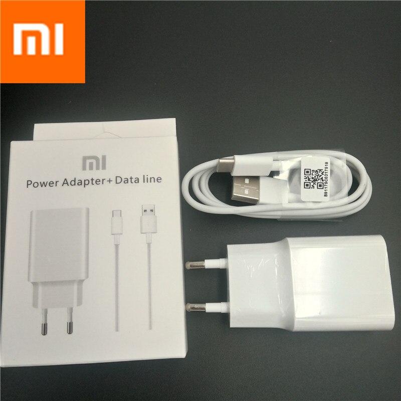 Original XIAOMI MI6 12 V/1.5A rápida QC 3,0 de carga rápida USB cargador de pared adaptador de la UE con el tipo C cable de datos con paquete de venta al por menor
