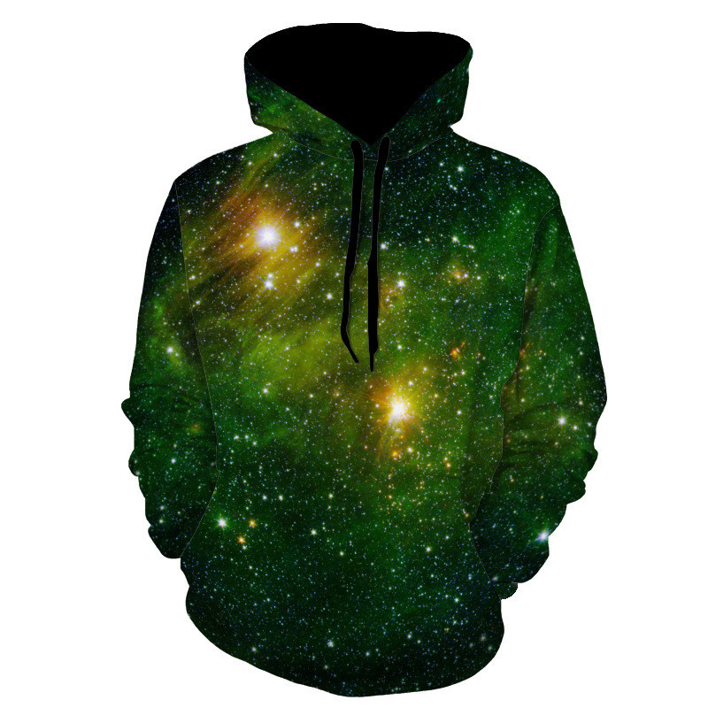 Fashion High Quality Space Galaxy 3D Sweatshirts Loose Outwear Plus Size Hoddies Long Sleeve For Men Women