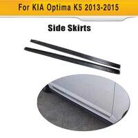 Carbon Fiber side skirts broadside skirt apron For Kia K5 Optima 2013 2014 2015