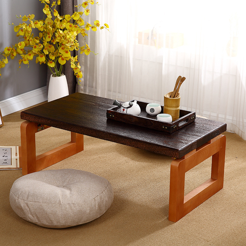 Wooden Coffee Table Japanese Mini  Simple Tea Laptop Working Breakfast Folding Table Living Room Balcony Small Table Furniture|Coffee Tables| |  - title=