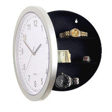 Modern Design Mechanical Clock Safe Storage Box Clock Plastic Jewelry Money Hidden Secret Stash Safe Box Wall Desk Clock