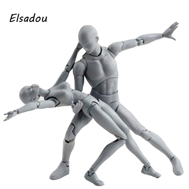 Elsadou Body Kun SHF Figuarts Archetype He She Action Figure Color DIY Figure Bodykun Action Figure Model Toy 8style archetype he archetype she ferrite shfiguarts body kun body chan ver pvc action figure collectible model toy with box