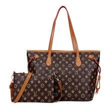 ab21173ccc86 Для женщин коричневые сумки повседневное Tote Письмо печати высокое ёмкость  леди сумка монограмма леди большой красный