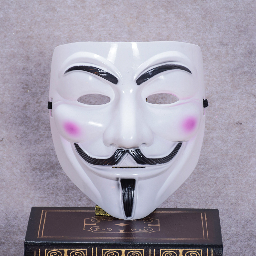V for Vendetta Mask Guy Fawkes Anonymous Halloween Cosplay Party Costume US NEW