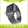2016 bandas venda de reloj de acero inoxidable para iwatch apple watch con correa de pulsera accesorios 38mm 42mm negro plata con adaptador