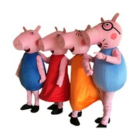 Pig Mascot Costume Fancy Party Dress anime cosplay mascotte adulte Birthday party outfit