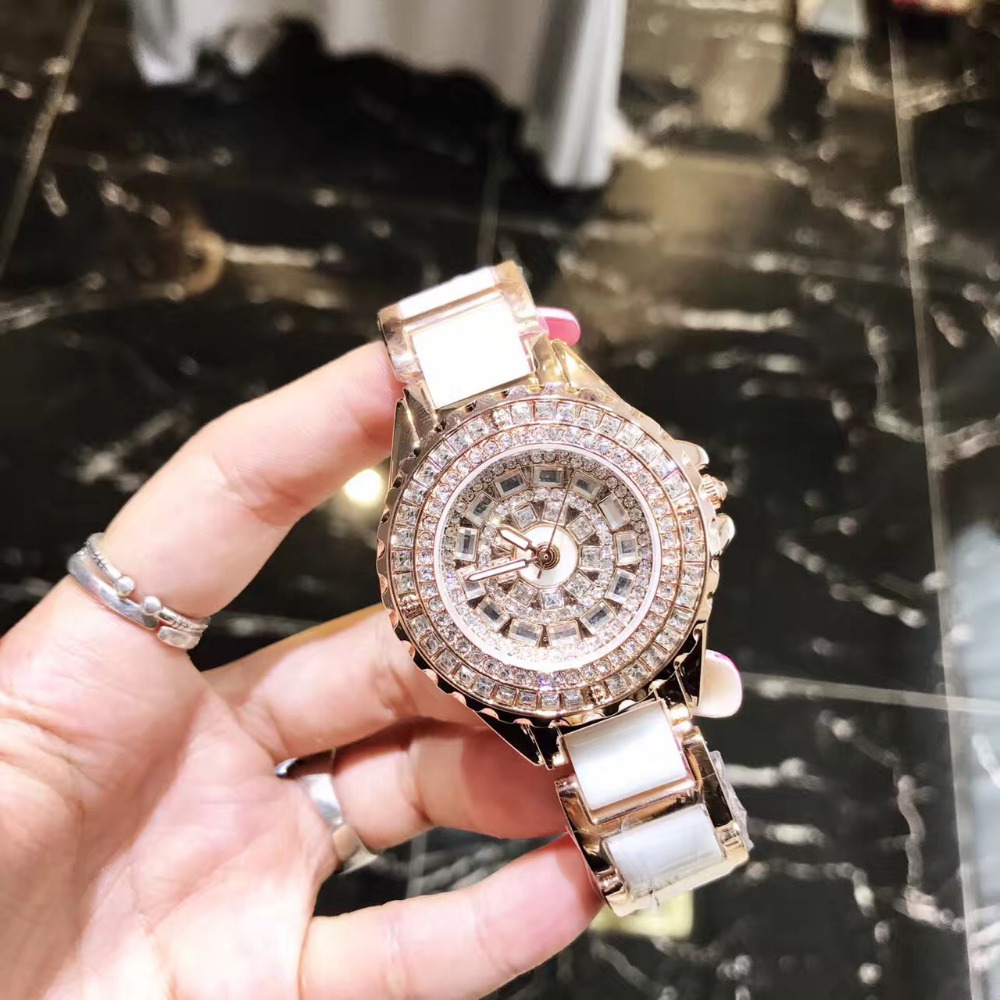 Classic Design MASHALI Crystals Watches Elegant Women Ceramic Bracelet Wrist watch Quartz Lady Dress Relojes Montre femme W193 beautiful macaron color women dress watches quartz elegant lady ceramic bracelet clock simple fashion analog relojes 3atm nw2777