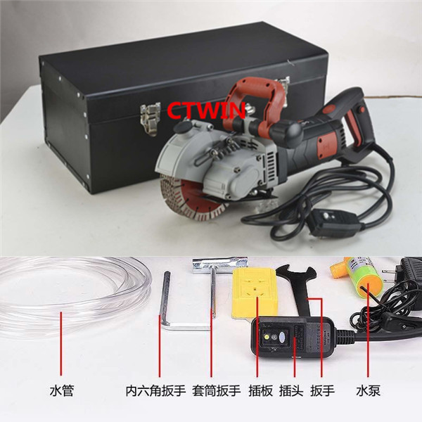 Cuchilla multifunción SizeMax-160MM Wall Groove Cutting Wall Chaser Machine para ladrillo / granito mármol / hormigón con alta calidad