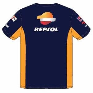 2018 Мужская футболка с принтом Repsol HRC для honda Racing motorcycle, летняя футболка из 100% хлопка с короткими рукавами