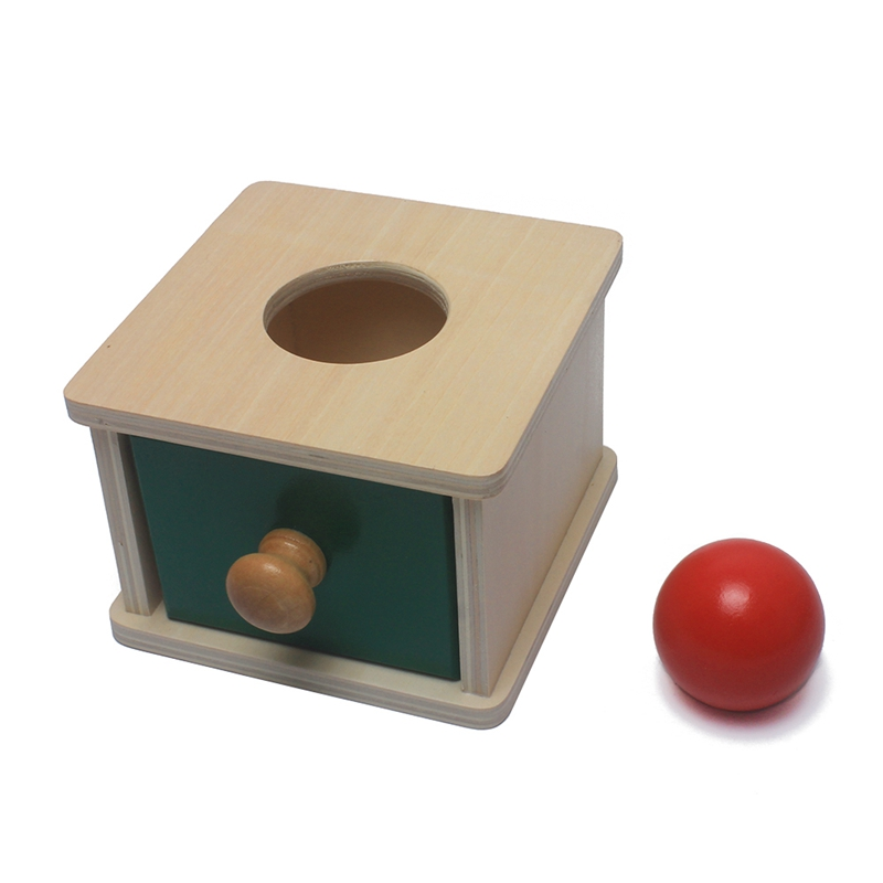 Toddlers Montessori Teaching Aids Wooden Ball Matching Box Red Ball Learning Educational Preschool Training Brinquedos Juguets