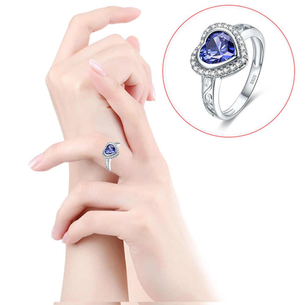 JC Herz Design Eternity Edlen Schmuck Rubin & Blue & White Topaz 925 Sterling Silber Ring Größe 6 7 8 9 Für Liebhaber Weihnachten geschenk